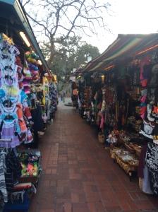 Los puestos en Calle Olvera